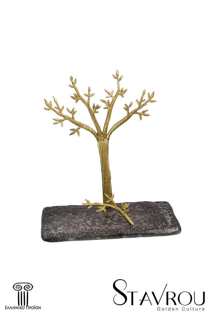 Διακοσμητικό δώρο γραφείου,καρτοθήκη - καρτελοθήκη ''ροδιά'',σε αφαιρετική γραμμή, χειροποίητα κατασκευασμένο, από ανακυκλωμένο αλουμίνιο η βάση του και ορείχαλκο το θέμα.  #καρτοθήκες #δώρα_γραφείου #εταιρικά_δώρα #συνεδριακά_δώρα