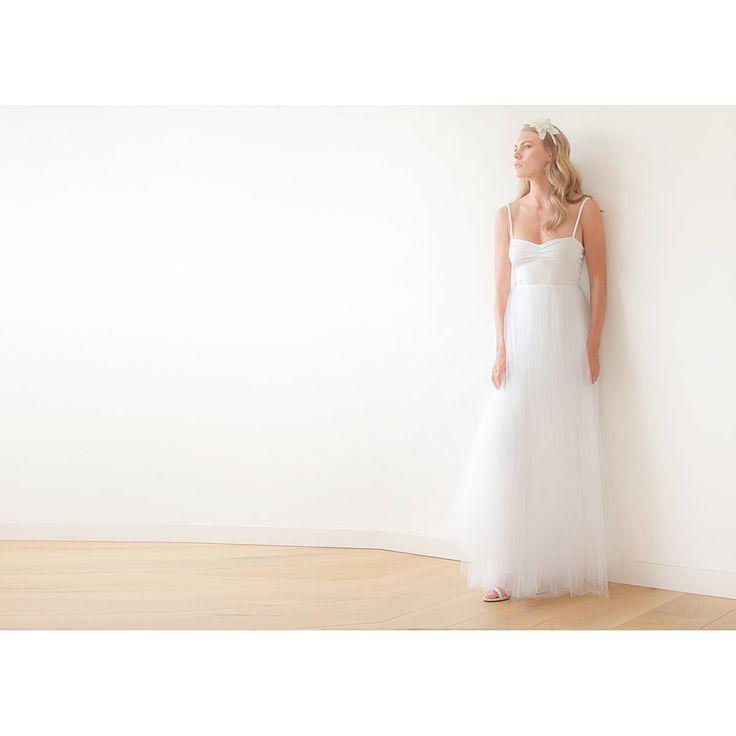 Ivory Ballerina Tulle Wedding Maxi Dress