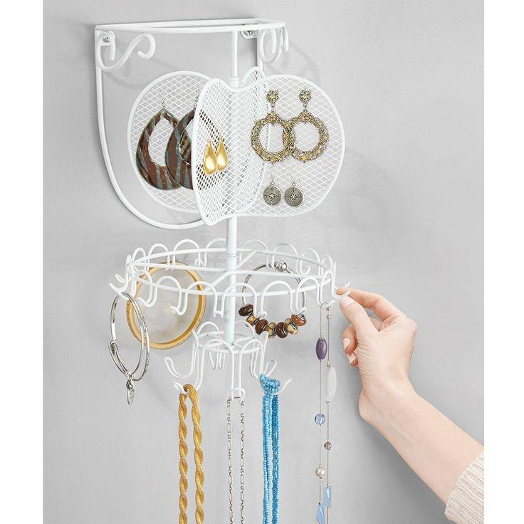 Set Organizador De Baño:InterDesign Classico – Organizador giratorio de pared para joyas