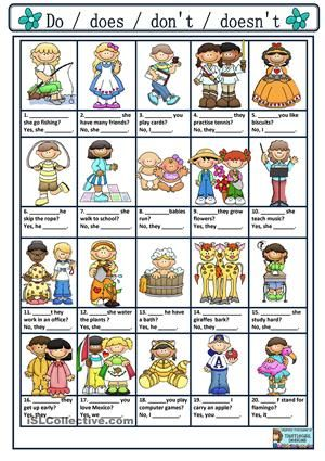 An exercise to practise questions and answers  using the simple present. - ESL worksheets