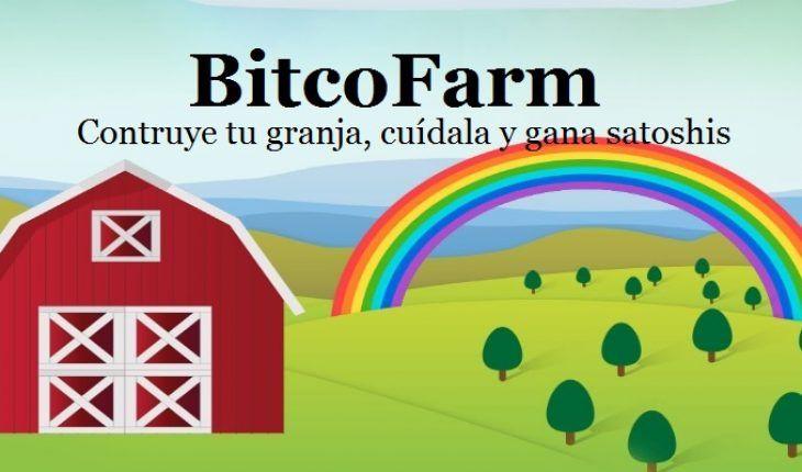 BitcoFarm es un juego online que nos paga bitcoins por cuidar nuestra propia granja. Como bienvenida, BitcoFarm regala 100.000 satoshis a cada nuevo usuario