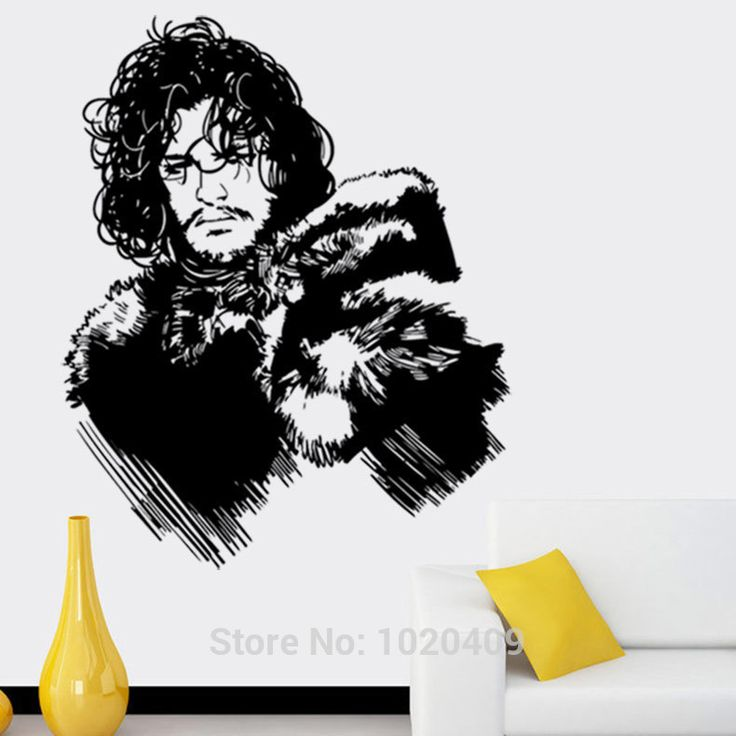 Exclusive direct wall sticker home furnishing decorative jon snow game of thrones person pvc wallpaper children