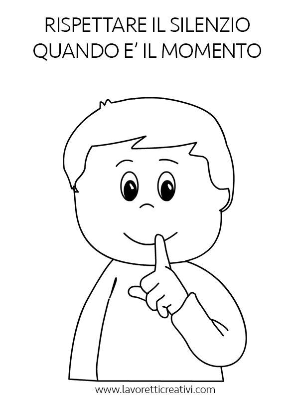 Regole da rispettare in classe con disegni da colorare