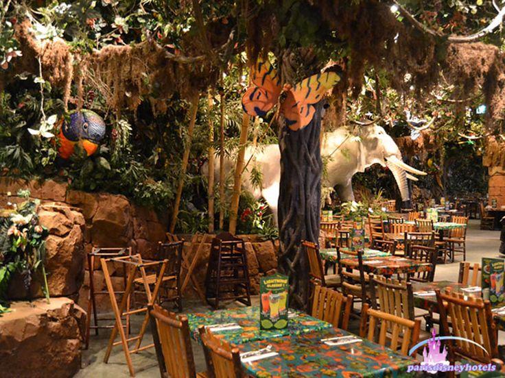 rainforest cafe   Selva interior de Rainforest Café - Restaurantes Disney