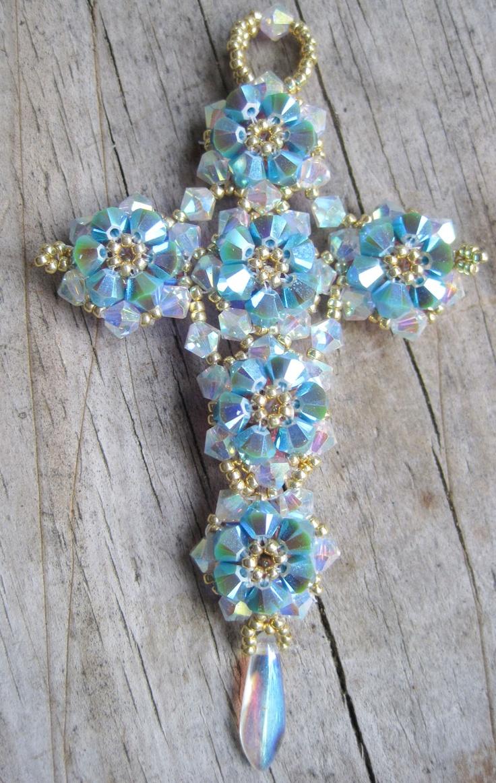25 best ideas about beaded cross on pony bead