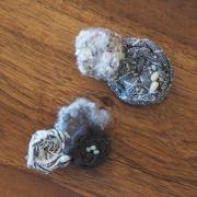 【 クリックポスト可 】 toromeco 裂き布のブローチ レディースアクセサリー,ブローチ,コサージュ
