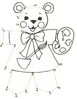 printable activities connect dots kids learning activitiesbear paintingskids