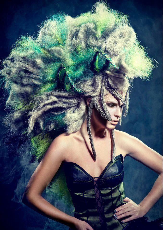 Hairstylist: Sanjay Ramcharan   Make-up Artist: Hanane Naji   Photographer: Richard Monsieurs   Stylist: Sanjay Ramcharan   Clothing: Sheguang Hu   Hair: Balmain Hair