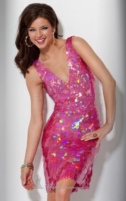 pink sparkly dress!