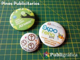 Pines para promociones,recuerdos,eventos,etc