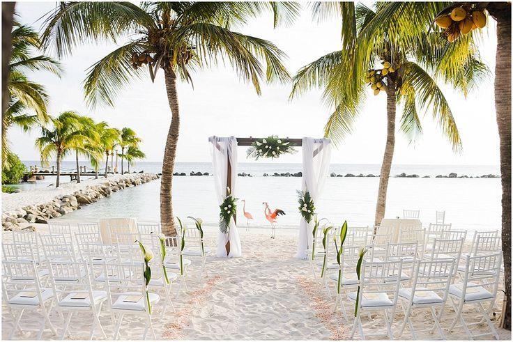 Renaissance Island - wedding on Flamingo Beach