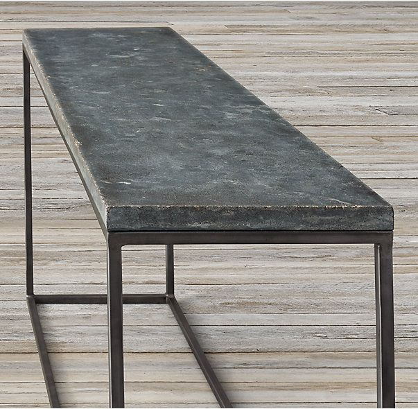 Delphine Bluestone & Metal Console Table