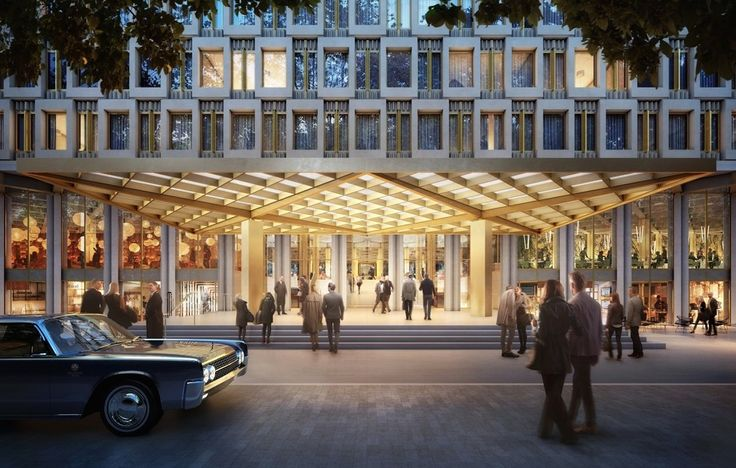 Image 1 of 5 from gallery of David Chipperfield Selected to Overhaul Saarinen's US Embassy in London. Entrance. Image © DBOX