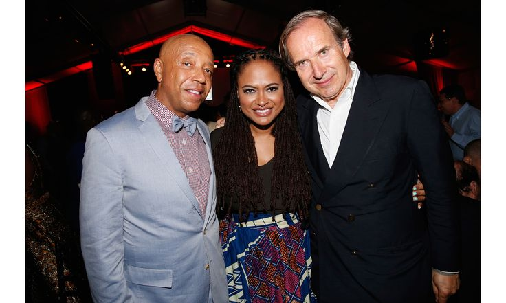 The Roaring Twenties-themed event—hosted by Rush Philanthropic Arts Foundation's founders Russell Simmons, Danny Simmons and Joseph Simmons—raised funds to support arts programming for inner city youth. Pictured above, Russell Simmons, Ava DuVernay, Simon de Pury.