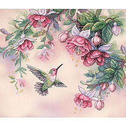 free cross stitch patterns | Hummingbird Stamped Cross Stitch Kit | Overstock.com