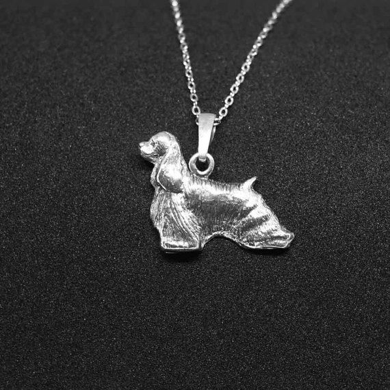Check out American cocker spaniel jewelry pendant - sterling silver - Custom Dog Necklace - Pet Memorial Gift - Dog Mom Gift - Pet jewellery on jewelledfriend