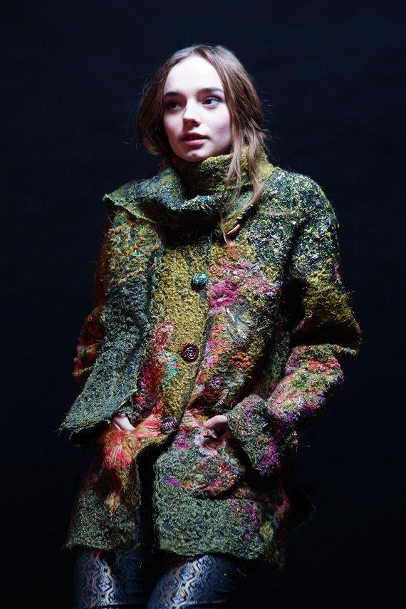 I AM FROM the forest .jacket. handmade artsyunique от JARMOLOWSKA