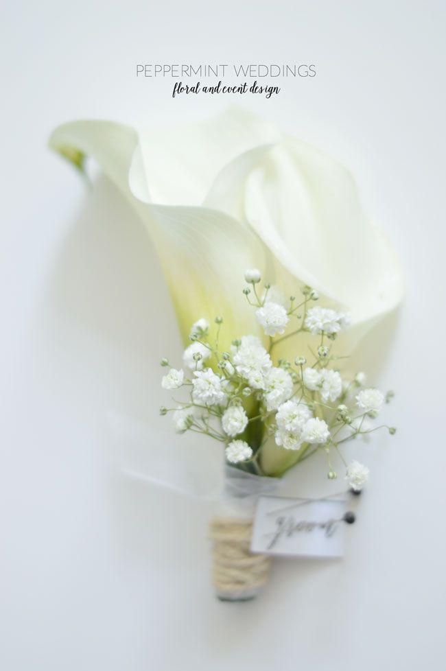 Classic calla lily wedding bouquets \\ bridesmaids \\ white and purple
