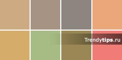 Цвета средней насыщенности (нейтральные цвета) – это средне-темные цвета палитры, они спокойны, не надоедливы, легко комбинируются с другими цветами