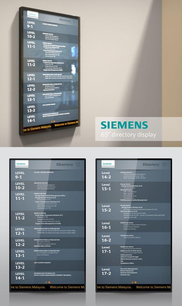 Siemens Digital Directory by Reynaldi Fachriza, via Behance