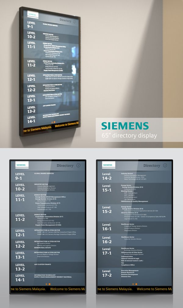 Siemens Digital Directory by Reynaldi Fachriza, via Behance