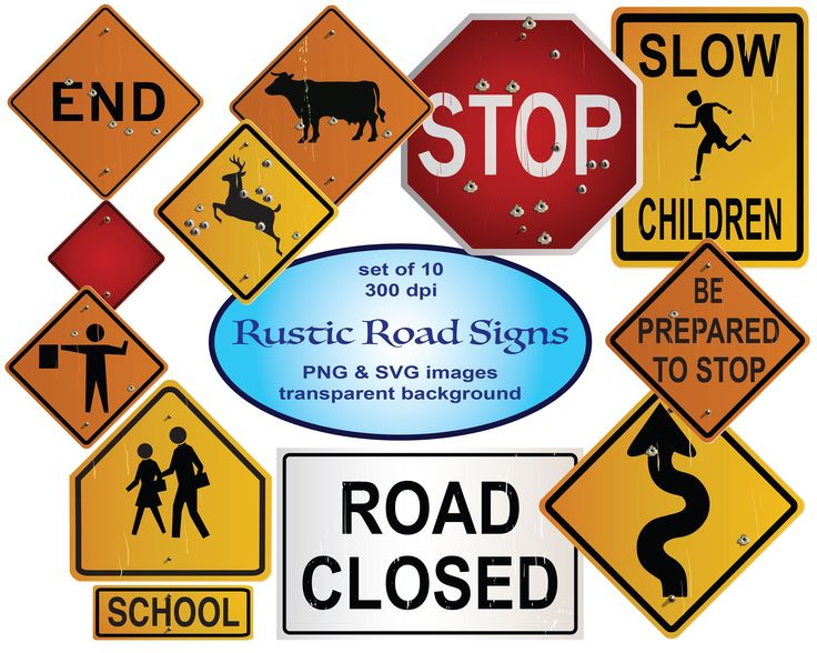 Rustic Road Signs Clipart Svg Clipart Construction Clip Art Highway Signage School Zone Stop Sign Deer Crossing Teacher Clip Art Road Signs Fun Stickers