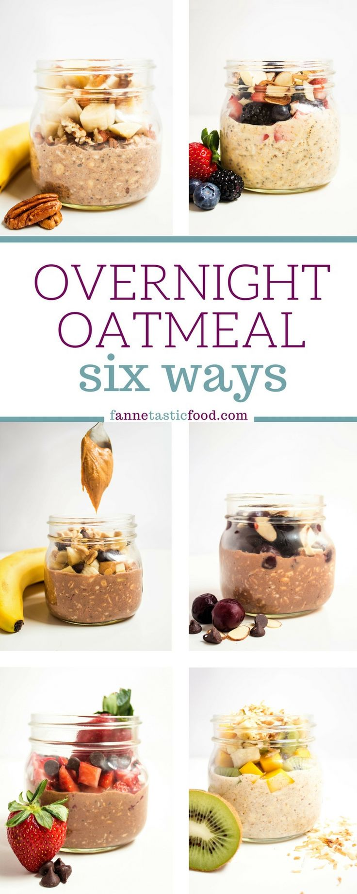Easy overnight oatmeal recipes - mix and match flavor combinations for fast and easy breakfasts!