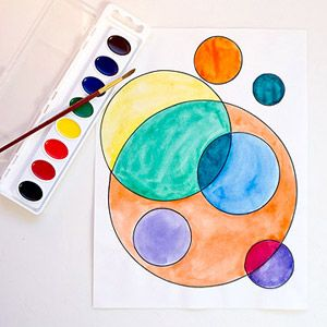 Recreate Five Masterpiece Paintings: Several Circles by Wassily Kandinsky