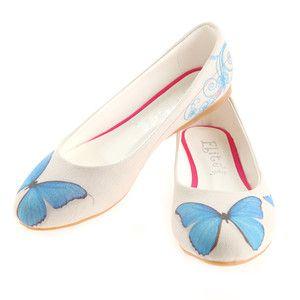 Ballerinas Butterfly Leinen, 34€, jetzt auf Fab.