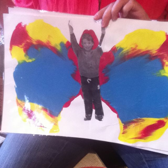"Silas would love this - his photo on a ""beautiful butterfly"" (he's obsessed with the butterfly in The Hungry Caterpillar!)"