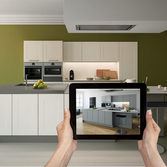 Créez votre cuisine : Meubles, accessoires, sol, murs, couleurs et matières, … combinez, osez, créez ! Application disponible gratuitement sur www.eggo.be/fr/cuisines/application et sur l'App Store.
