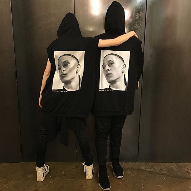 introducing: raf simons 'isolated heroes' collab with david sims. hoodies, sweatshirts, parkas & bags feature casting photographs by sims from raf simons 1999 show. find these collectable pieces in tyler st & wellington. #rafsimons #davidsims #isolatedheroes #zambesistore photo @missprovost