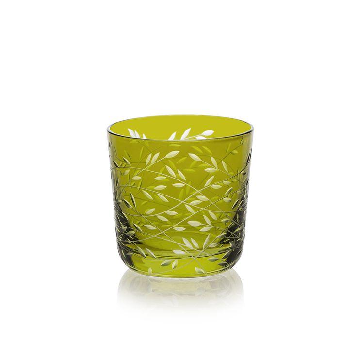 OLIVA | Handmade Glass Blown Shot-Liquor, Folium-Oliva 1921, height: 55 mm | top diameter: 57mm | volume: 60 ml  | Bohemian Crystal | Crystal Glass | Luxurious Glass | Hand Engraved |Original Gift for Everyone | clarescoglass.com