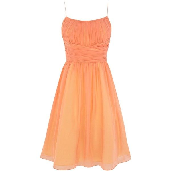 Coast Chatelaine Dress, Peach found on Polyvore