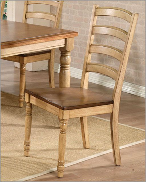 Winners Only Almond Wheat Ladder Back Chair Of