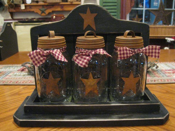 primitve craft ideas | Primitive Jar Set | primitive craft ideas