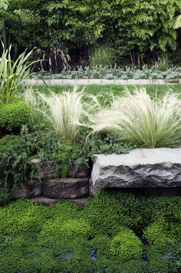 lush planting with a quiet palette in San Francisco garden of designer Antonio Martins: Gardens Ideas, Hanging Plants, Interiors Design, Gardens Spaces, Outdoor Gardens, Gardens Design, Gardens Outdoor, Antonio Martin, Potrero Hill