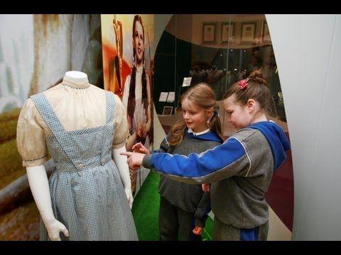 Judy Garland's original Wizard of Oz costume in Ireland - YouTube