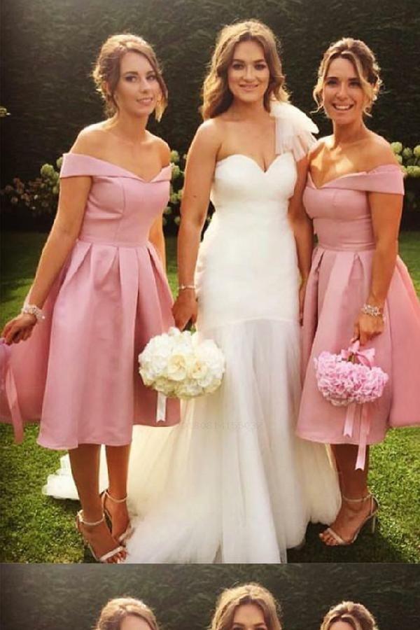 bridesmaid dress pink cute bridesmaid dress a line bridesmaid