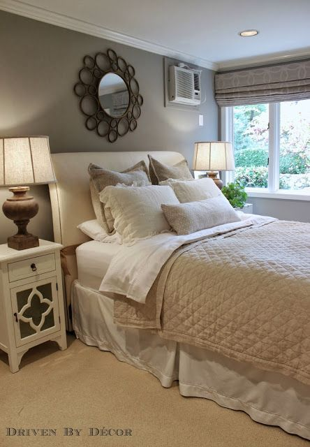 Guest room makeover in soft neutral tones