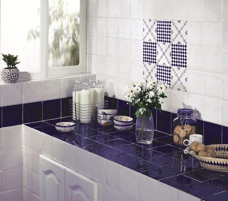 Snyggt kökskakel när det är som bäst! CC Höganäs Pombalino - Mönstrat Kökskakel | Stonefactory.se