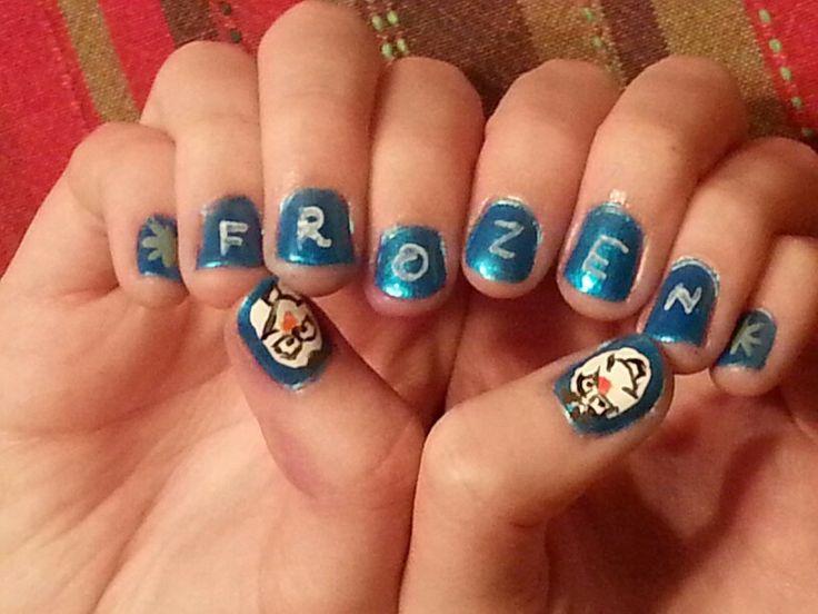 Frozen inspired nail art!