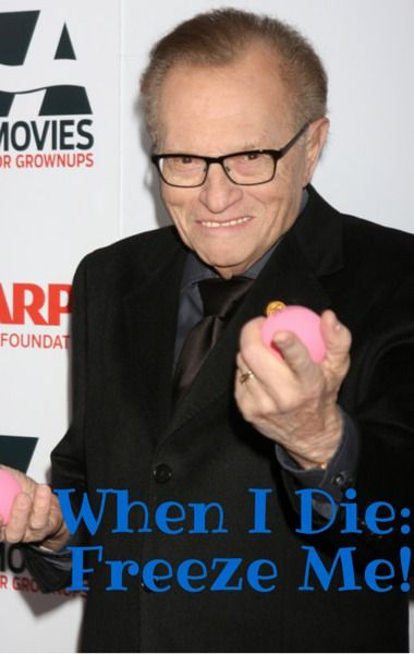Larry King stopped by Dr Oz to talk about wanting to freeze his body after he dies in a process called cryopreservation. http://www.recapo.com/dr-oz/dr-oz-news/dr-oz-larry-king-cryopreservation-freezing-body-death/