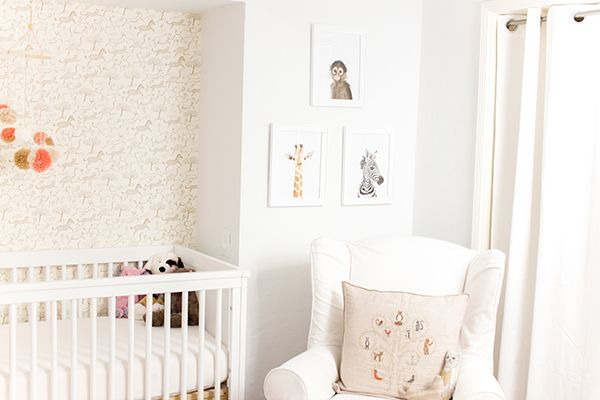 This nursery on LC's blog is like the hipster version of what I'm trying to create for Margo.  :)  Home Makeover: A Safari Chic Nursery
