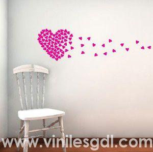 vinil decorativo corazon