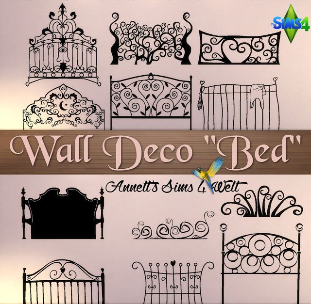 "Sims 4 CC's - The Best: Wall Deco ""Bed"" by Annett85"