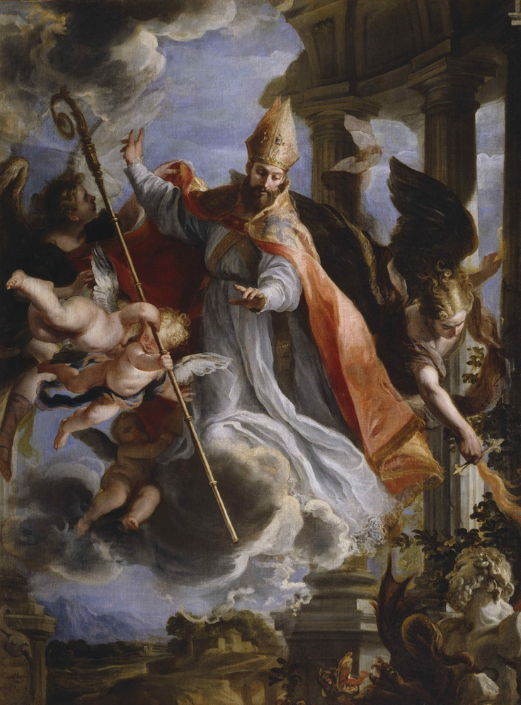 The Triumph of Saint Augustine, 1664 by Claudio Coello. Museo del Prado, Madrid.