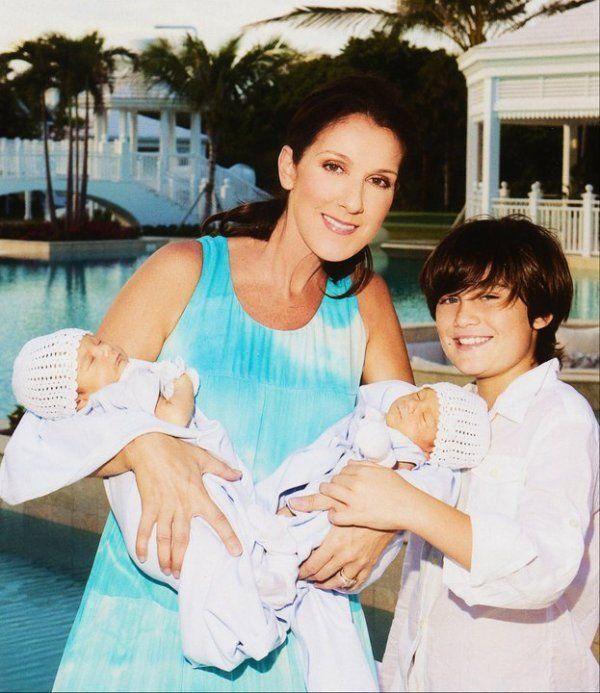 Celine Dion et ses enfants