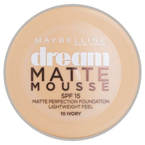 From 3.60:Maybelline Dream Matte Mousse Spf 15 10 Ivory 18ml