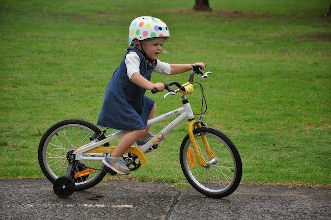 LIVE IT, DO IT!: Her very first bike, a BYK BIKE!